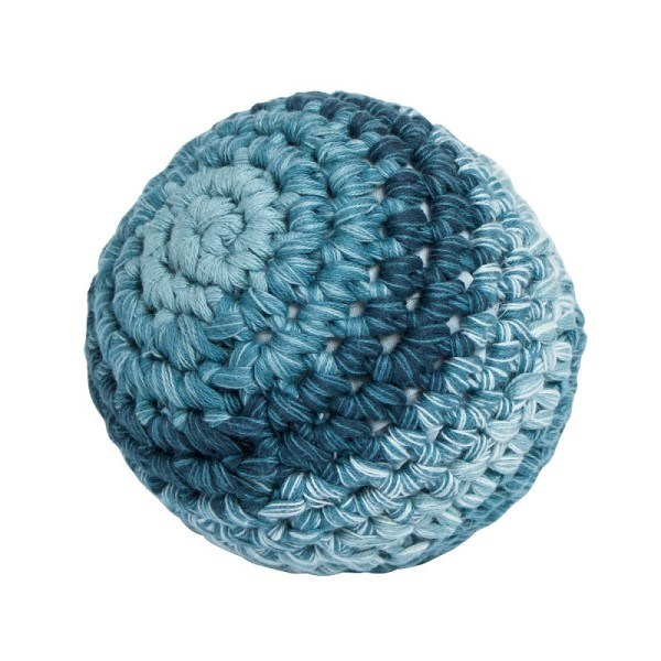Sebra Ball gehäkelt klein Blau