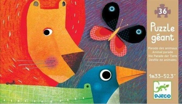 Djeco Puzzle Die Parade der Tiere