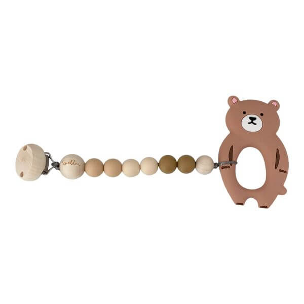 Leoetlea Beißkette Bär Haselnußbraun