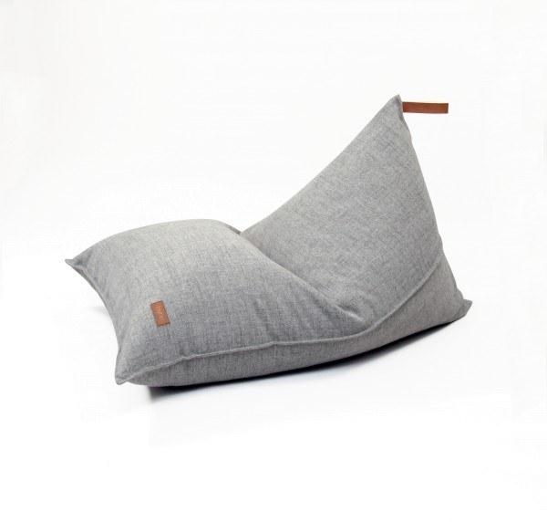 fayne Sitzkissen Pouf Grau Melange 120x80 cm