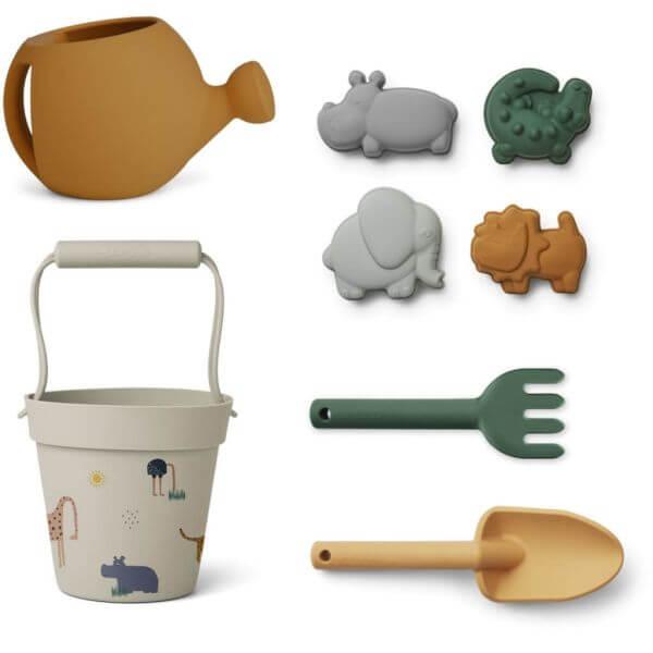 Liewood Garten- und Strandspielzeug Set Safari_LW13097-1112