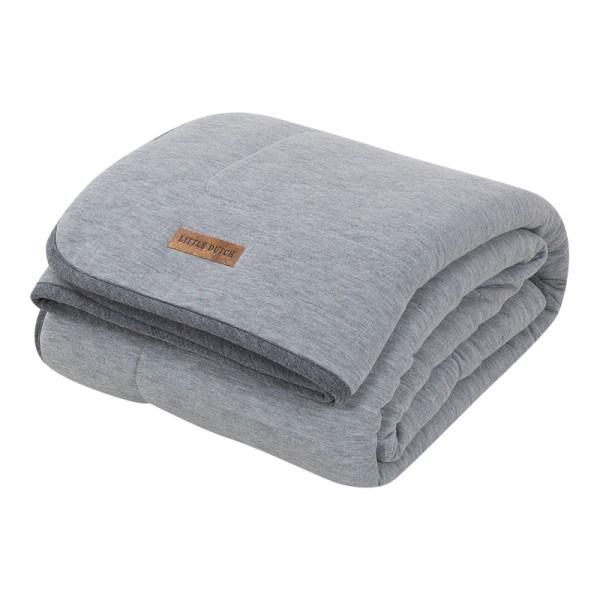 Little Dutch Babydecke pure & soft Grey Melange 70x100 cm