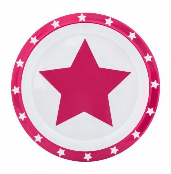 Pimpalou Teller Melamin Stars Pink