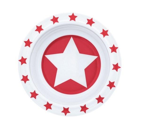 Pimpalou Schüssel Melamin Stars Rot