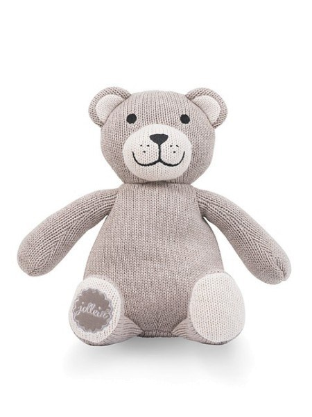 Jollein Schmusetier Teddybär natural knit Beige