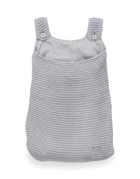 Jollein Aufbewahrungstasche Heavy knit Hellgrau