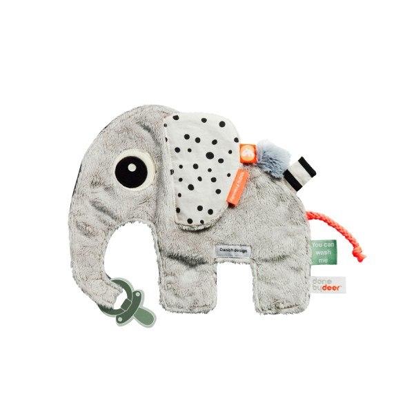 Done by Deer Schnullertuch Elefant Grau