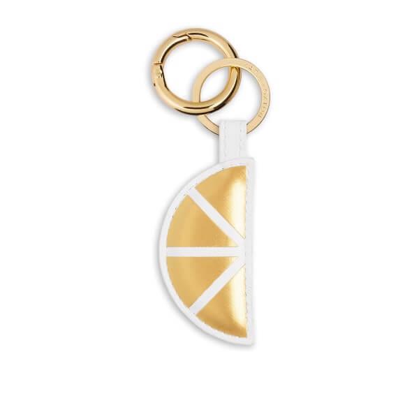 """Katie Loxton Schlüsselanhänger Zitrone """"When Life Gives You Lemons"""" GELB-WEISS 7.2 x 3.6 cm"""