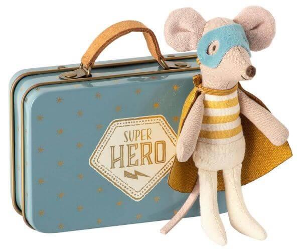 Maileg Superhero Kleiner Bruder Maus im Koffer
