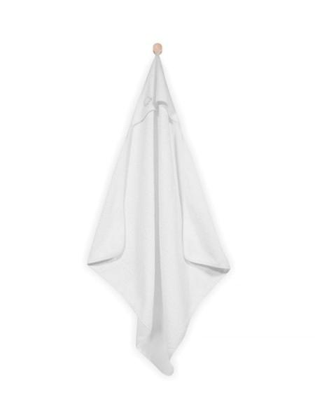 Jollein Babybadetuch mit Kapuze Weiß 75x75 cm