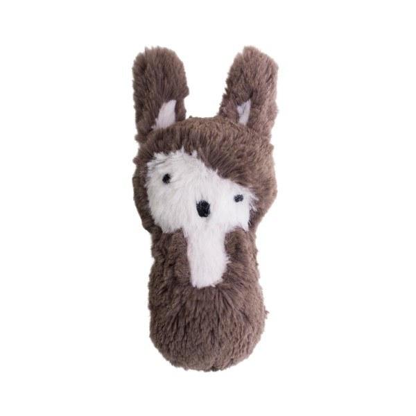 Sebra Plüsch Rassel Kaninchen Bodenbraun