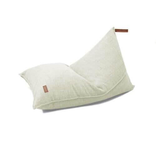 fayne Sitzkissen Pouf Creme Melange 120x80 cm
