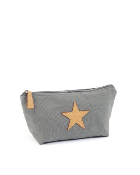Smallstuff Kulturtasche mit Stern Grau