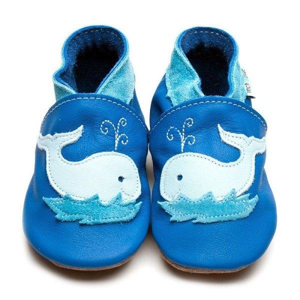 Inch Blue Babyschuhe Wal Blau