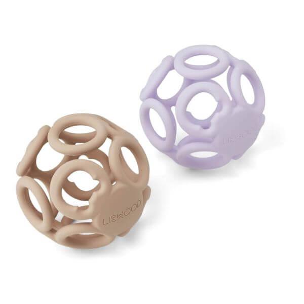 Liewood 2er-Set Beißball rose/lavendel_LW12943-5084