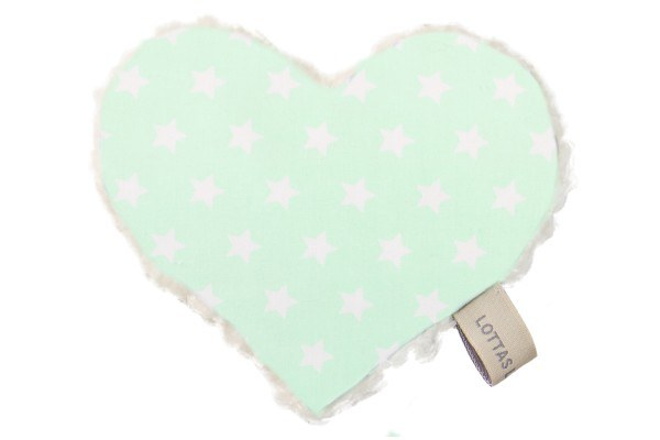 Lottas Lable Knistertuch Herz Linda Lou Star Mint