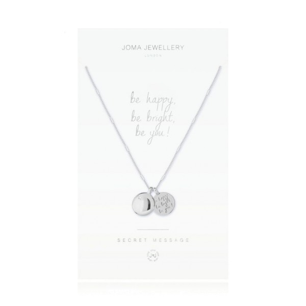 "Joma Jewellery Kette Secret Message ""Be Happy"" Silber"